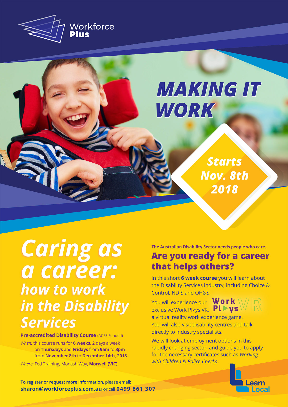 Learn Local - Disability Services course